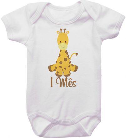 Body Mesversario Personalizado Avulso Girafa