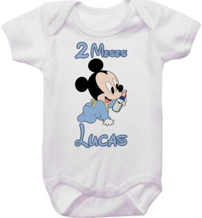 Body Mesversario Personalizado Avulso Mickey Baby MA0114