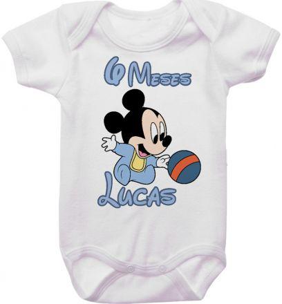 Body Mesversario Personalizado Avulso Mickey Baby MA0118
