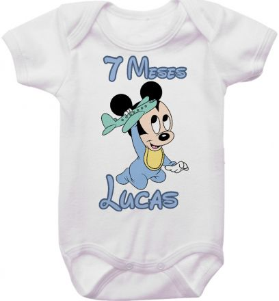 Body Mesversario Personalizado Avulso Mickey Baby MA0119