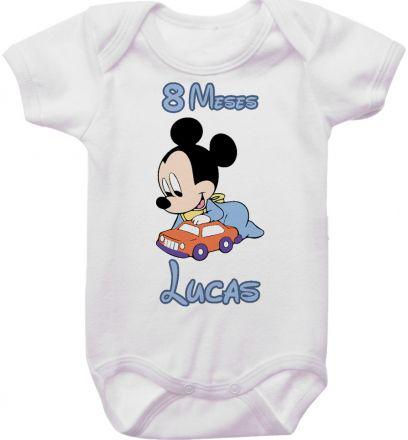 Body Mesversario Personalizado Avulso Mickey Baby MA0120