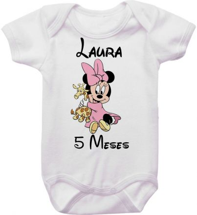 Body Mesversario Personalizado Avulso Minnie Baby MA0125