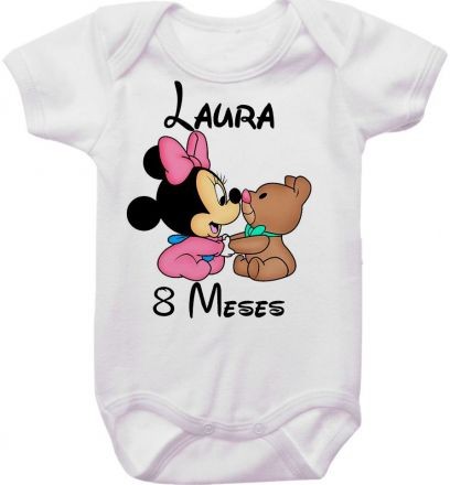 Body Mesversario Personalizado Avulso Minnie Baby MA0126