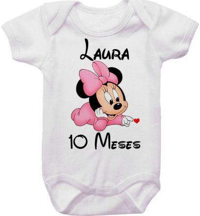 Body Mesversario Personalizado Avulso Minnie Baby MA0128