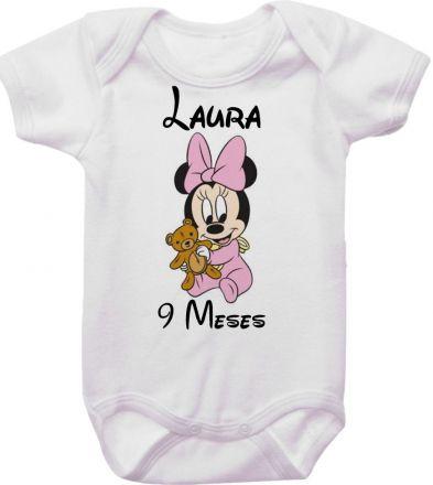 Body Mesversario Personalizado Avulso Minnie Baby MA0129