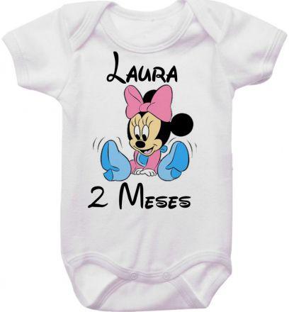 Body Mesversario Personalizado Avulso Minnie Baby MA0130