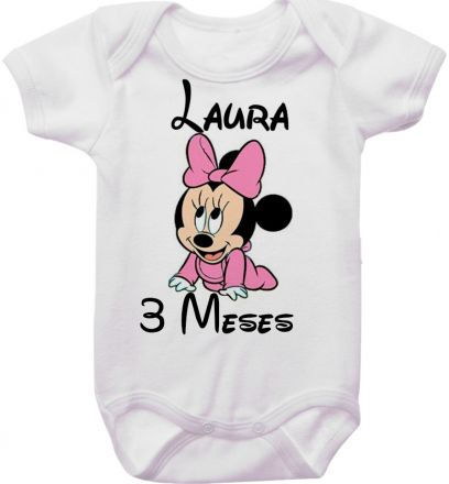 Body Mesversario Personalizado Avulso Minnie Baby MA0133