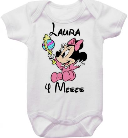 Body Mesversario Personalizado Avulso Minnie Baby MA0134