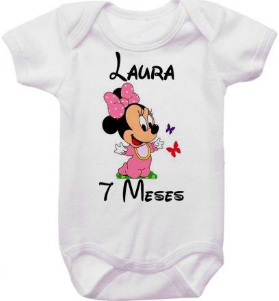Body Mesversario Personalizado Avulso Minnie Baby MA0135