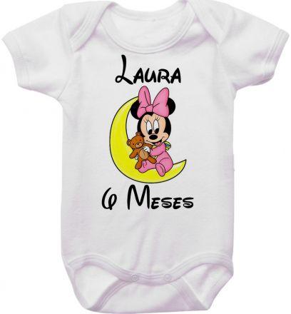 Body Mesversario Personalizado Avulso Minnie Baby MA0136