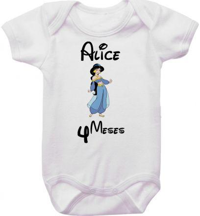 Body Mesversario Personalizado Avulso Princesas Disney MA0144