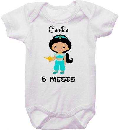 Body Mesversario Personalizado Avulso Princesas Disney MA0145