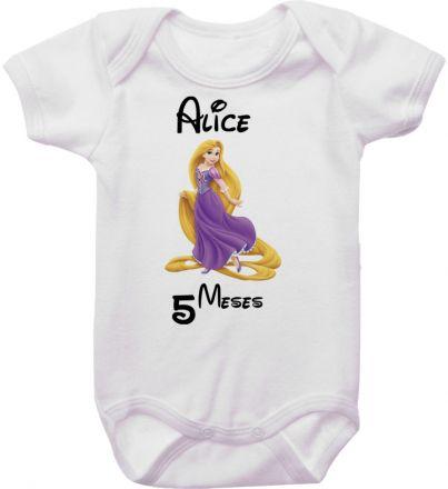 Body Mesversario Personalizado Avulso Princesas Disney MA0146