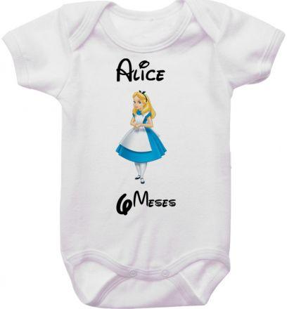 Body Mesversario Personalizado Avulso Princesas Disney MA0148