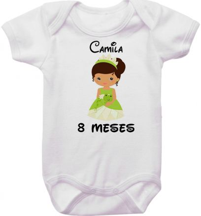 Body Mesversario Personalizado Avulso Princesas Disney MA0151