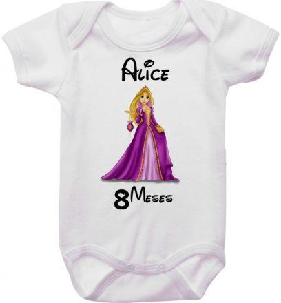 Body Mesversario Personalizado Avulso Princesas Disney MA0152