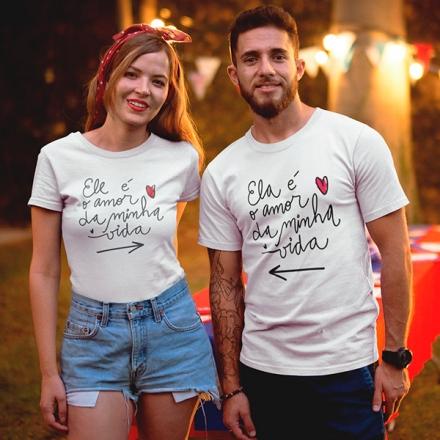 Camiseta Casal Amor da Minha Vida - CA1310