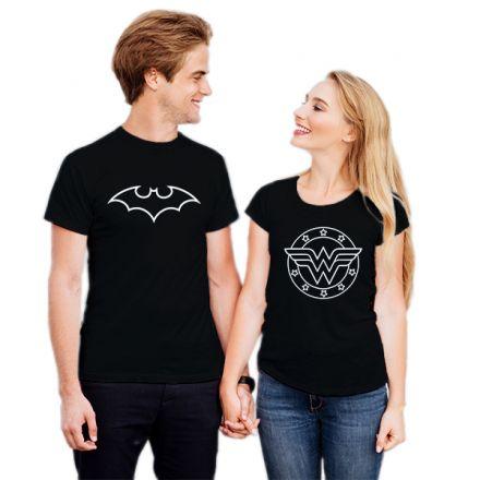 Camiseta Casal Batman e Mulher Maravilha CA0740