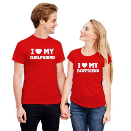 Camiseta Casal I Love Girlfriend CA0736