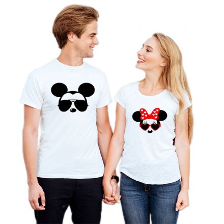 Camiseta Casal Mickey e Minnie CA0728