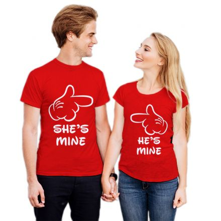 Camiseta Casal Mickey She is Mine CA0727