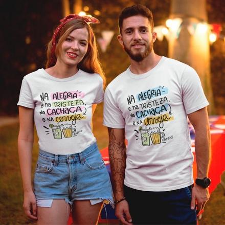 Camiseta Casal Na Alegria e Na Tristeza - CA1287