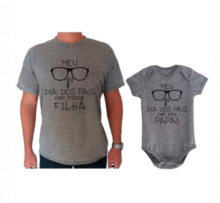 Camiseta e Body Cinza Primeiro Dia dos Pais Oculos CA0724
