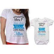 Camiseta e Body Meu 1º Dia das Mães Com Meu Filho