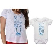 Camiseta e Body Meu 1º Dia das Mães Com Meu o Filho