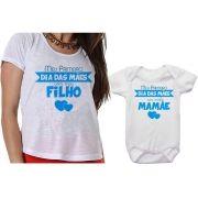 Camiseta e Body Meu Primeiro Dia das Mães Com Meu Filho Personalizado