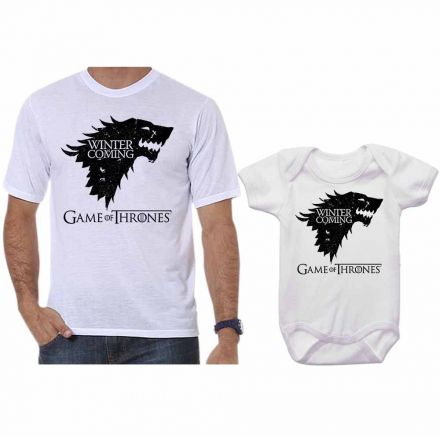 Camiseta e Body Tal Pai Tal Filha Série Game Of Thrones