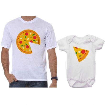 Camiseta e Body Tal Pai Tal Filho Pizza