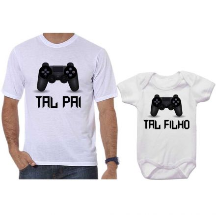 Camiseta e Body Tal Pai Tal Filho Vídeo Game Playstation PS