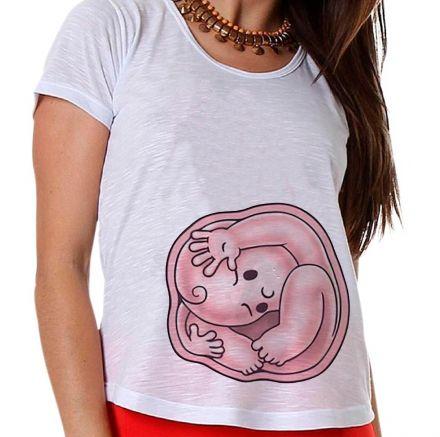 Camiseta Gestante Bebê na Barriga