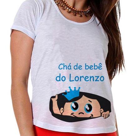 Camiseta Gestante Chá de Bebê Menino