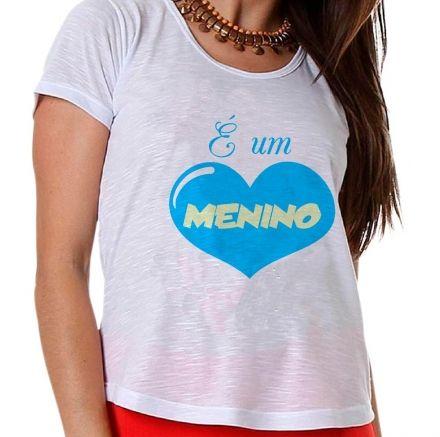 Camiseta Gestante É Um Menino Coração