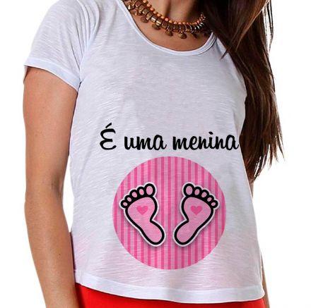 Camiseta Gestante É Uma Menina