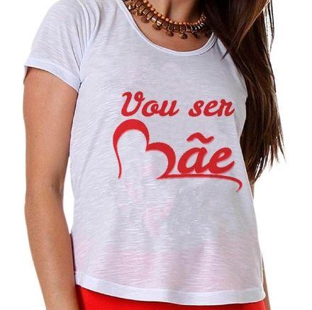 Camiseta Gestante Vou Ser Mãe Coração