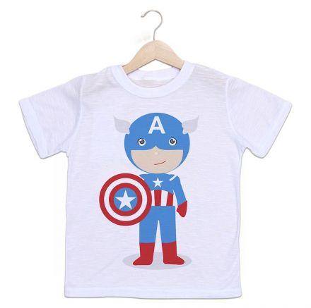 Camiseta Infantil Capitão América Baby