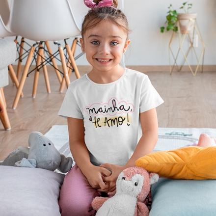 Camiseta Infantil Mainha Te Amo - CA1203