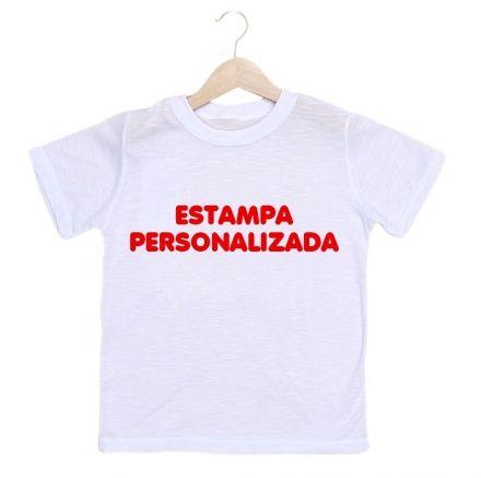 Camiseta Infantil Masculina Personalizada Com A Sua Estampa