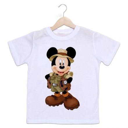 Camiseta Infantil Mickey Safari