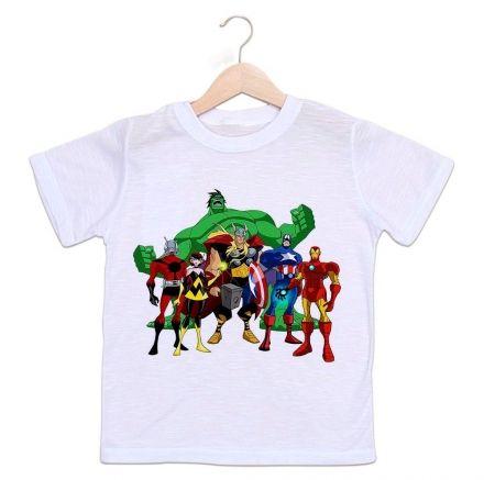 Camiseta Infantil Os Vingadores