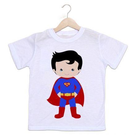 Camiseta Infantil Super Homem Baby