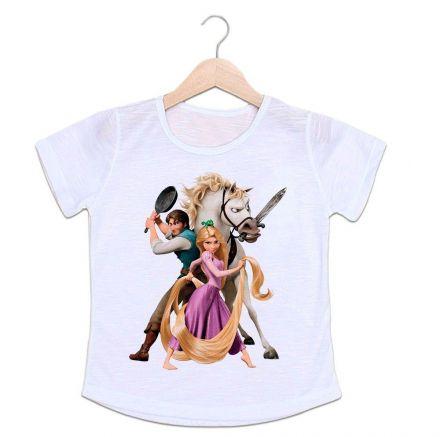 Camiseta Infantil Turma Rapunzel Enrolados