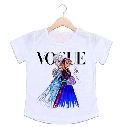 Camiseta Infantil Vogue Frozen