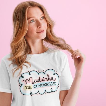 Camiseta Madrinha de Consagração - CA1254