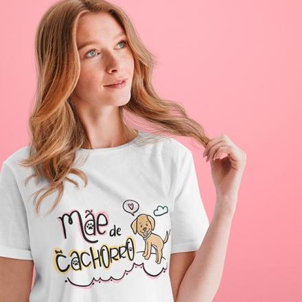 Camiseta Mãe de Cachorro - CA1195
