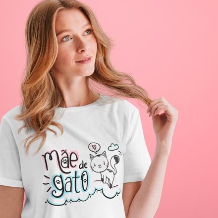 Camiseta Mãe de Gato - CA1194