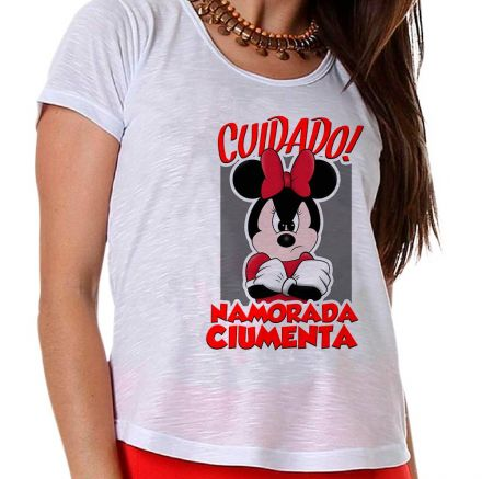 Camiseta Minnie Namorada Ciumenta